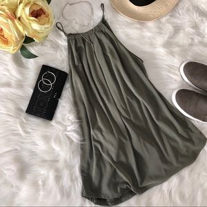 Green Envelope olive green flowy tank top